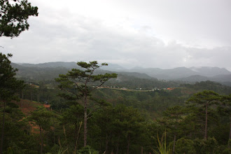 Photo: Year 2  Day 16  -  A View of the Road and Mountains on the Way to Dalat