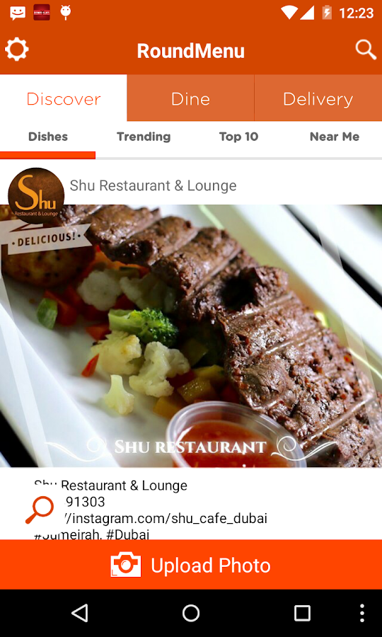 RoundMenu Restaurant Discovery - screenshot