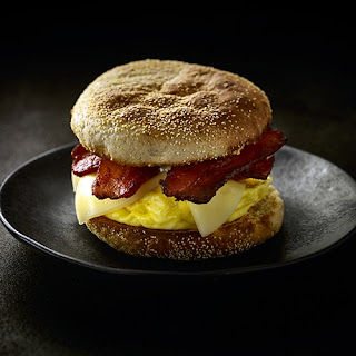 Bacon and English Muffin Sandwich.