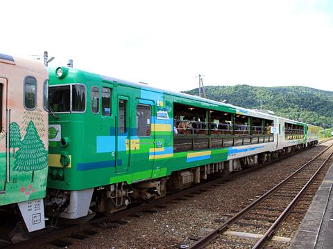 JR北海道 観光列車「風っこそうや」 音威子府にて_11 3号車「びゅうコースター風っこ」