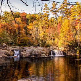 Linville Falls Upper by RomanDA Photography - Landscapes Mountains & Hills ( mountains, linville, nc, falls, fall )