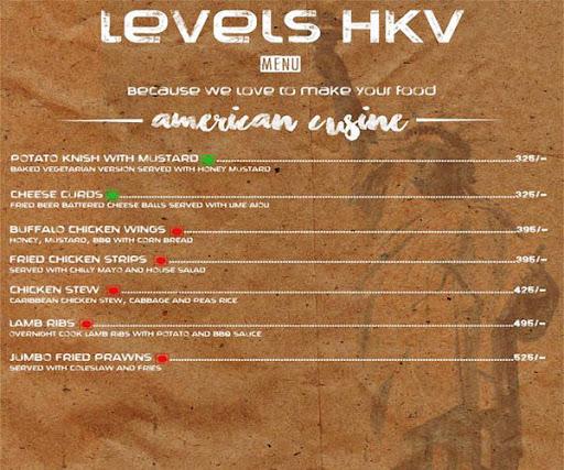 Menu 14 - Levels HKV, Hauz Khas Village, New Delhi