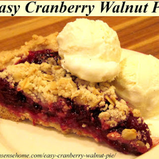 Easy Cranberry Walnut Pie