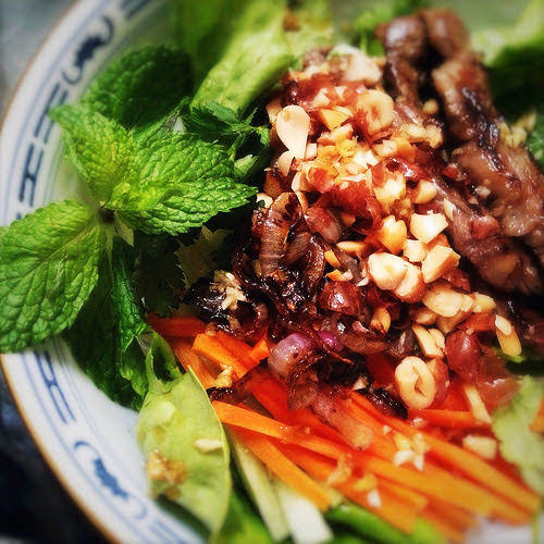 beef, Bun Bo Xao, Chilled, Cold, lemongrass, noodles, recipe, Rice Noodles, salad, Vermicelli Noodles, Vietnamese
