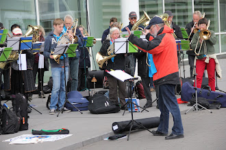 Photo: One of the great features of Kirchentag is the many brass bands who offer impromptu recitals
