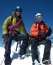 Photo: Gary and Phil on the summit - the inspiration and the inspired!