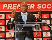 Premier Soccer League (PSL) chairman Irvin Khoza addresses the media at the PSL offices in Parktown, Johannesburg.