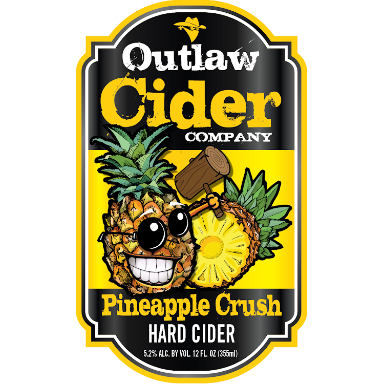 Logo of Outlaw Cider Company Pineapple Crush Hard Cider