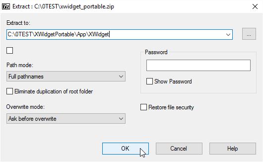 Into App\XWidget