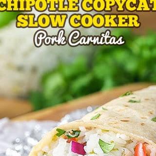 Chipotle Copycat Slow Cooker Pork Carnitas