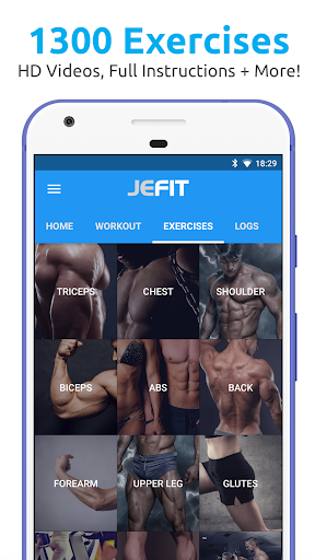 JEFIT Workout Tracker, Weight Lifting, Gym Log App for Android apk 1
