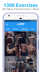JEFIT Workout Tracker, Weight Lifting, Gym Log App 10.24