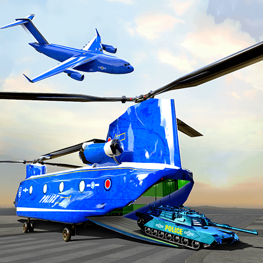 US Police Plane Transporter - Transport Simulator
