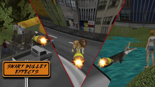 三维城市狙击手 - 狮子的攻击