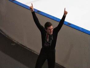 Photo: Josh after he successfully climbed over the boards