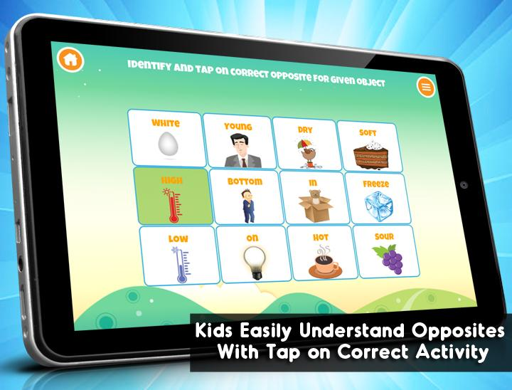 Number Names Worksheets list of opposites for preschoolers : Learning Opposites for Kids - Android Apps on Google Play