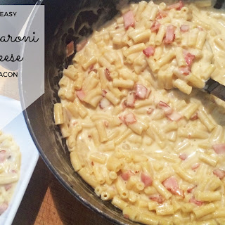 Super Easy Macaroni and Cheese with Bacon