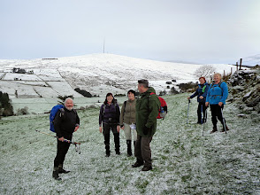 Photo: Taking a break on the Beara Breifne Way walk from Ballyvourney to Millstreet with the RTE Mullaghanish mast in the background on Saturday, January 17th, 2015.  2 of 9