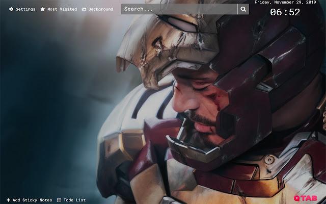 Iron Man Wallpapers HD New Tab Theme