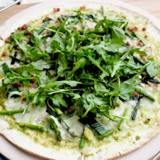 Healthy Spring Greens Pizza.