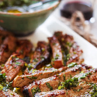 Spicy Grilled Steak with Parsley Sauce Recipe