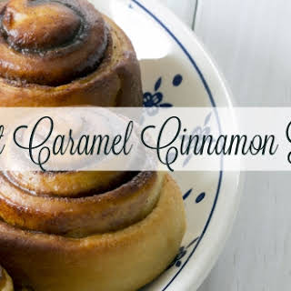 Soft Caramel Cinnamon Rolls.