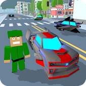 Blocky Hover Car: City Heroes