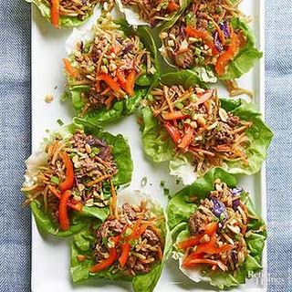 Korean Beef Lettuce Wraps.