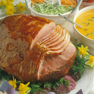Baked Ham with Honey-Apricot Glaze.