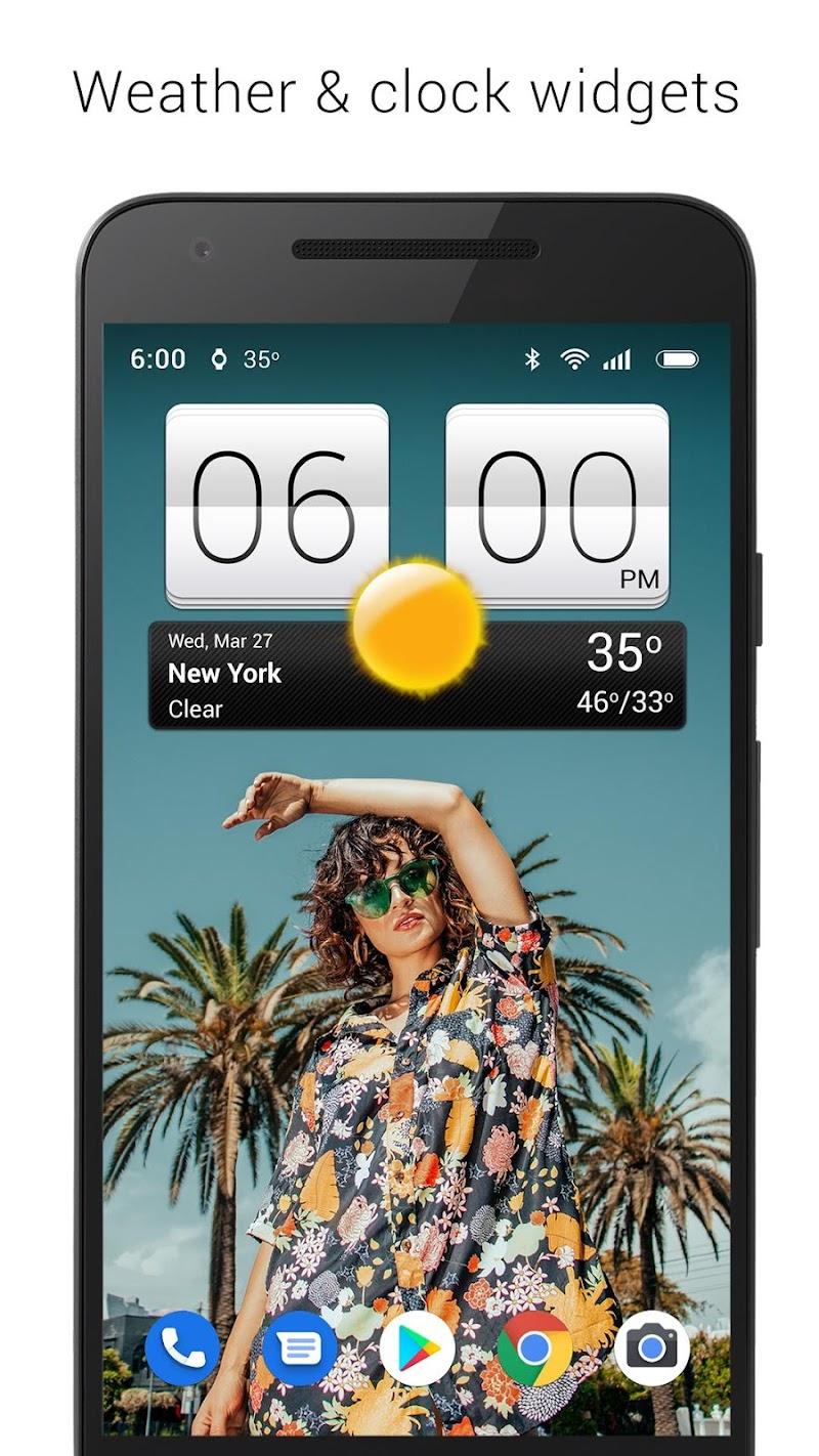 Sense V2 Flip Clock & Weather Screenshot 0