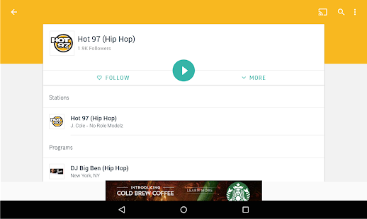 TuneIn Radio - Radio & Music Screenshot 15