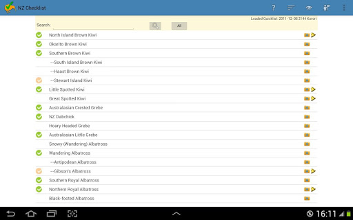 NZ Birding Checklist screenshot 9