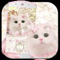 Cute pink kitty Theme icon