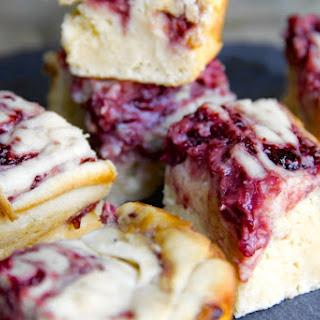 Skinny Raspberry & White Chocolate Gooey Cake Bars