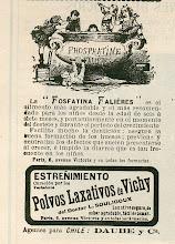 Photo: Publicidad de antaño. Ojo con los Polvos Laxativos de Vichy.