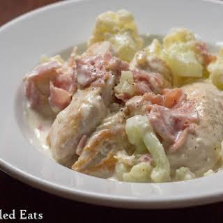Ham & Cheddar Chicken Skillet Dinner.