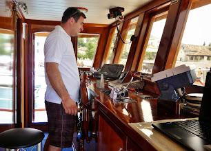 Photo: Captain Adria sets sail.