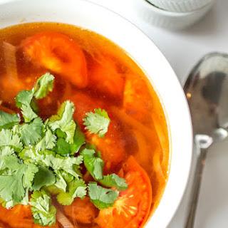 Thai Style Tomato and Leek Soup