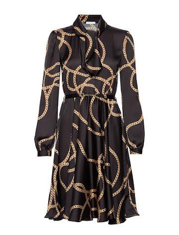 Shiver Dress Black/Gold - Ida Sjöstedt