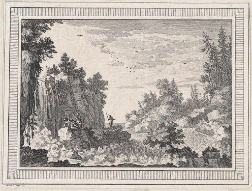 Landscape, from a series of six landscapes dedicated to Madame La Marquise de Pompadour