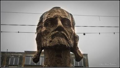 """Photo: Calea Victoriei - din parcul din MR.3 - detaliu din Grupul statuar Horea Closca si Crisan""""  - CRISAN - 2017.11.02"""