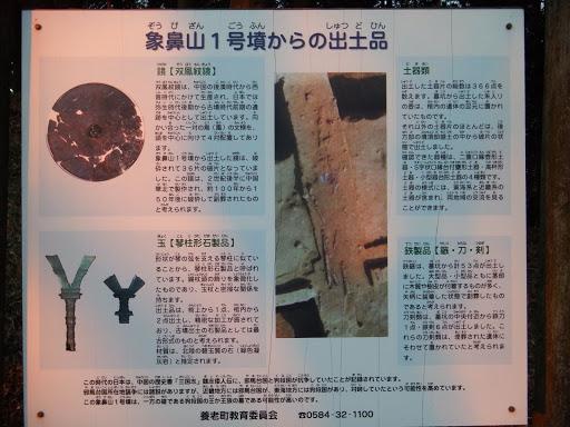 象鼻山1号古墳からの出土品