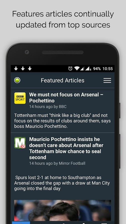 Tottenham News- screenshot