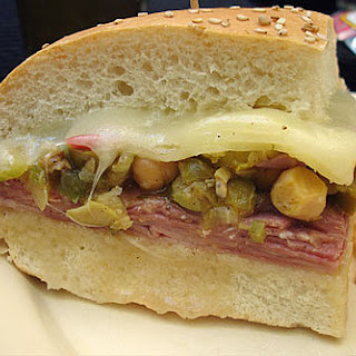 Slow Cooker Hot Muffuletta