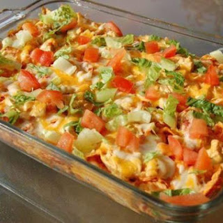 Cheesy Chicken Mexican Doritos Casserole!
