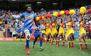 Stormers and Springboks captain Siya Kolisi leads his team onto the field in their opening 2020 Super Rugby opener against the Hurricanes at Newlands.