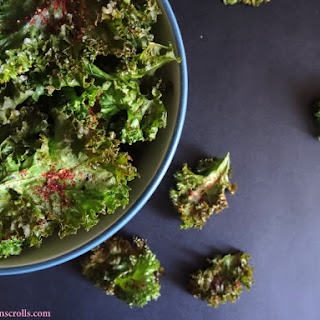 Salted Paprika Kale Chips (Vegan).