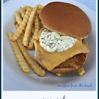 Copy Cat McDonald's Tartar Sauce & Fish Sandwich.