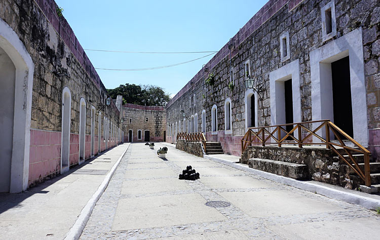 Inside Morro Fort in Old Havana.