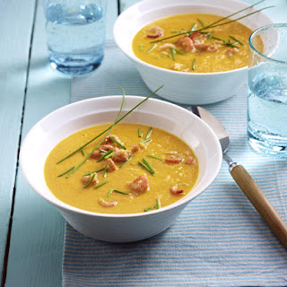 Carrot and Ginger Soup with Crab